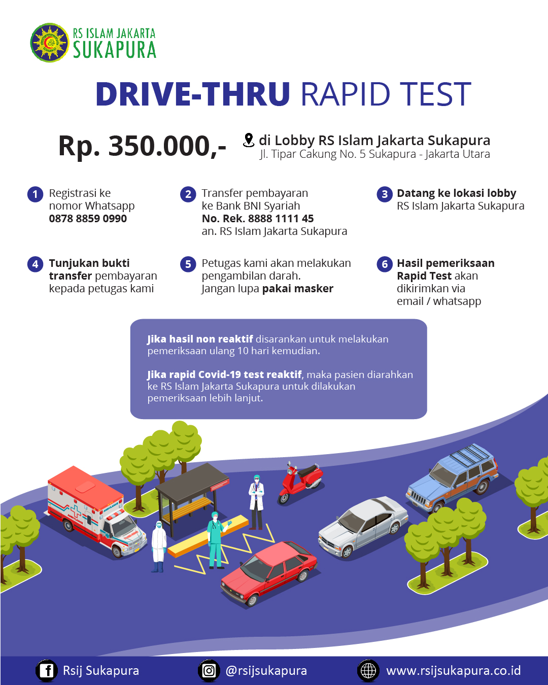 Drive thru rapid test